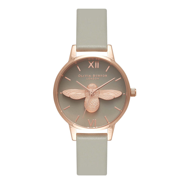 OLIVIA BURTON-Animal Motif Midi Moulded Bee Rose Gold-Watch-OB15AM77-THE UNIT STORE