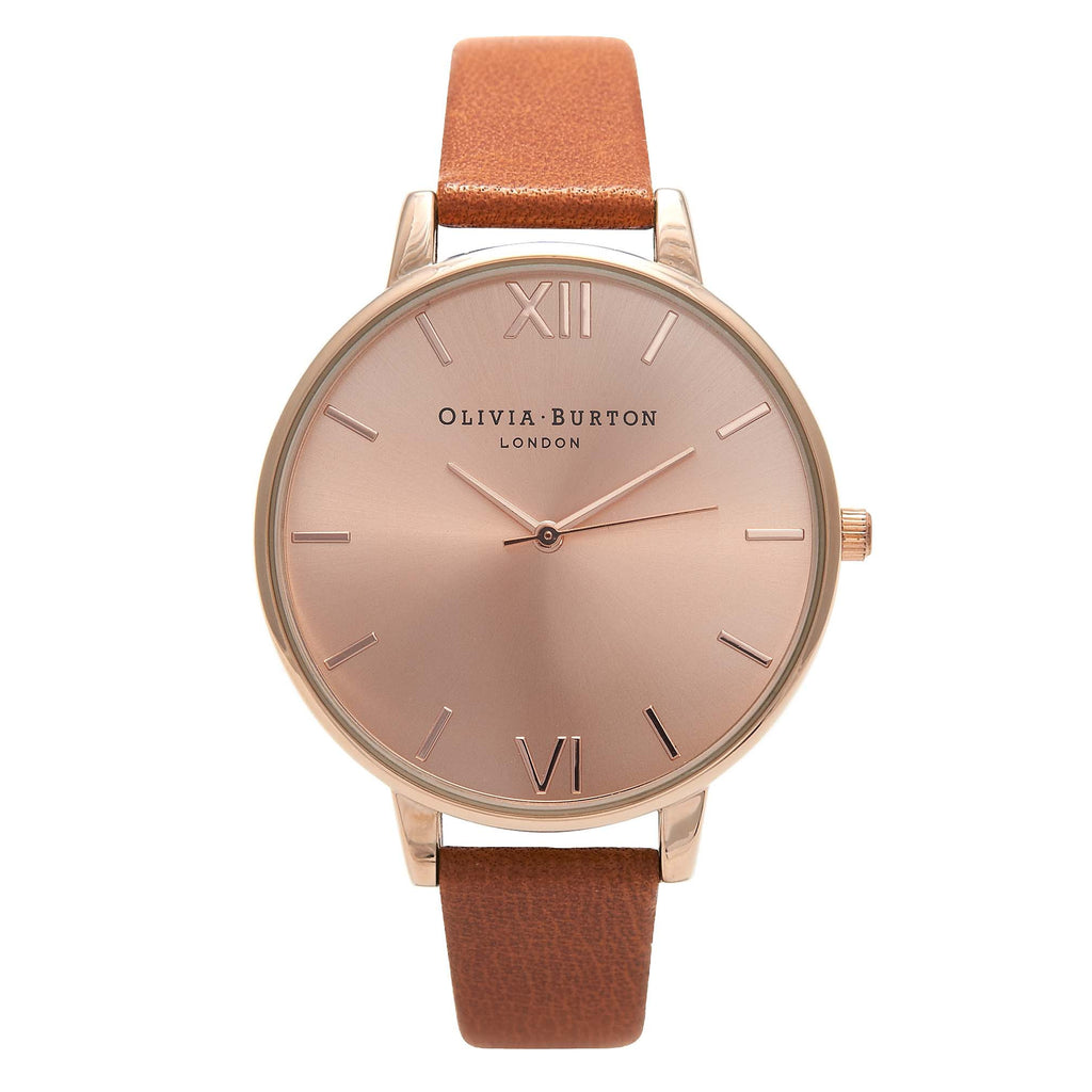 OLIVIA BURTON Big Dial Tan & Rose Gold OB15BD70