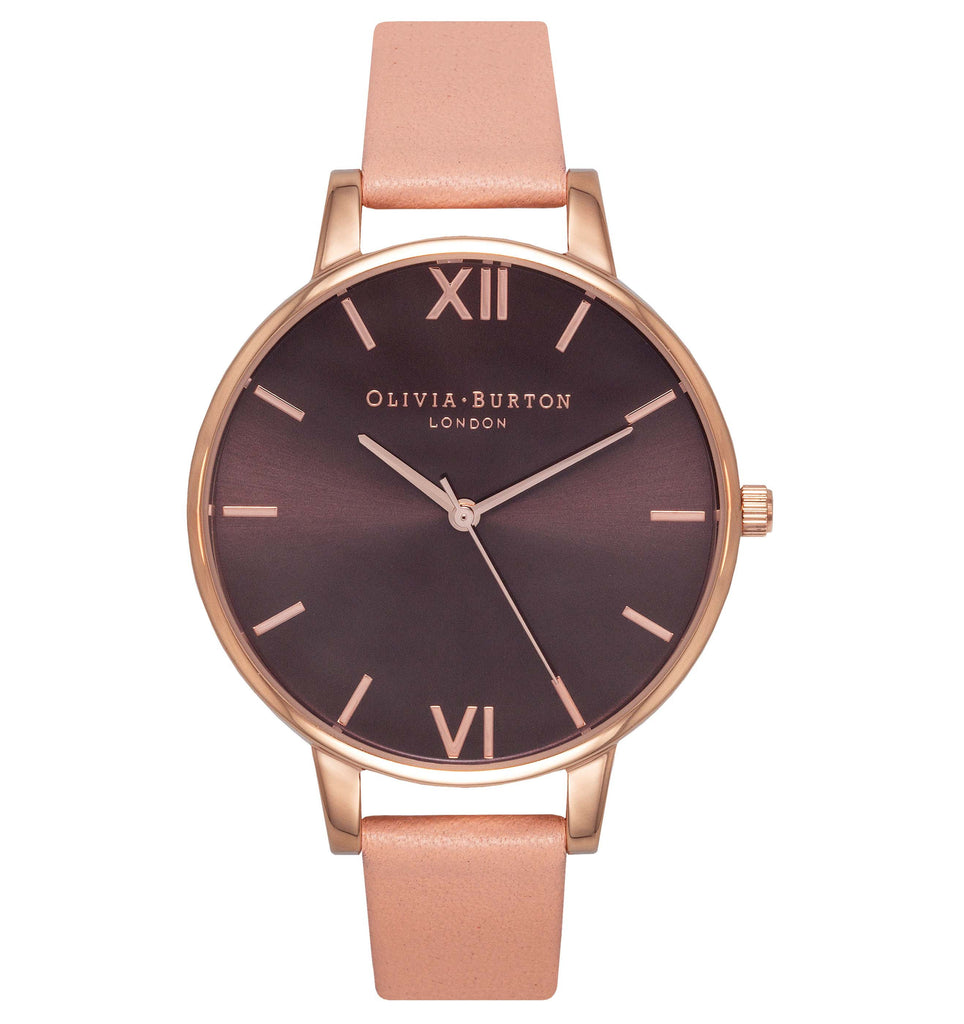 OLIVIA BURTON-Brown Dial Brown Dial, Dusty Pink & Rose Gold-Watch-OB15BD72-THE UNIT STORE