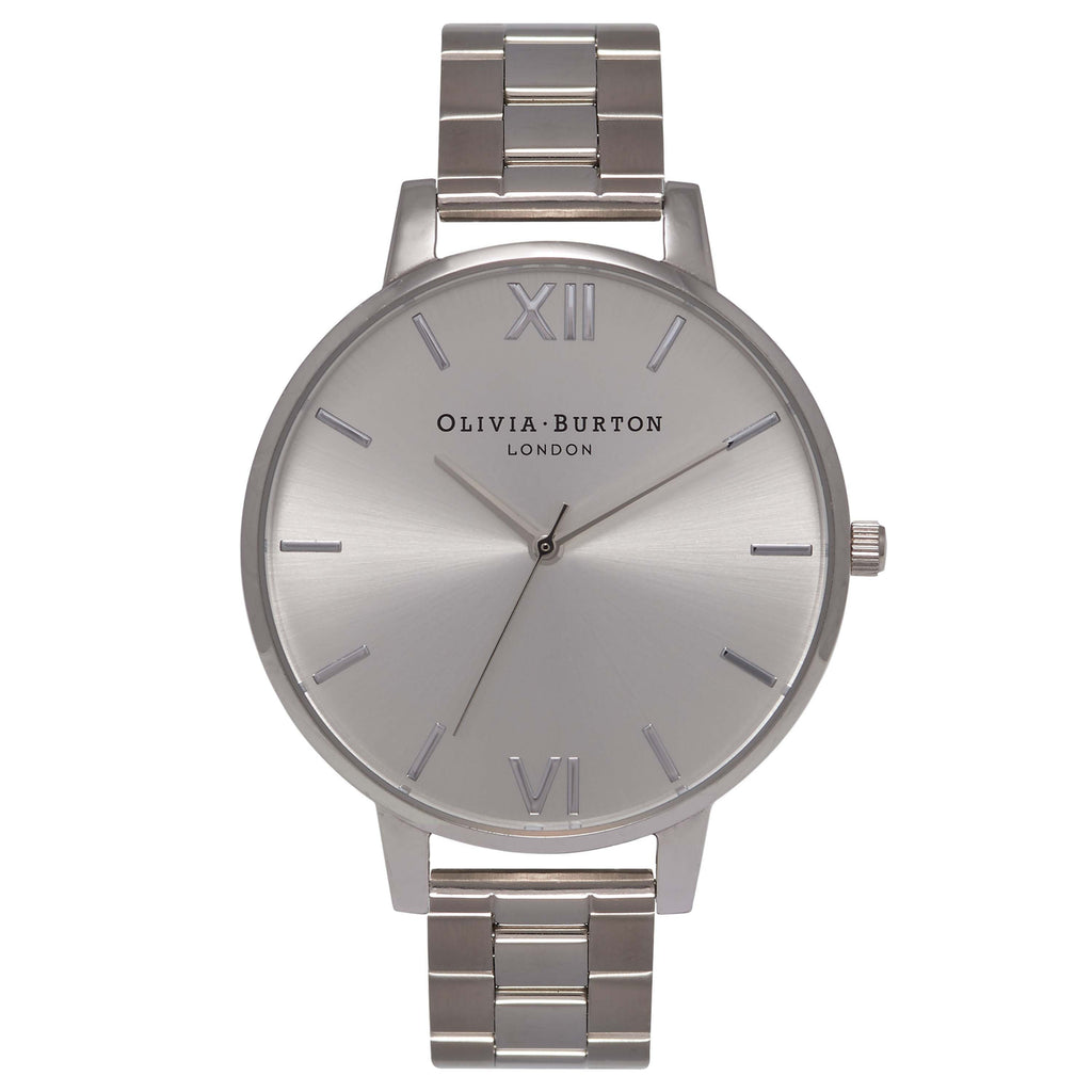 OLIVIA BURTON-Big Dial Bracelets Silver-Watch-OB15BL22-THE UNIT STORE