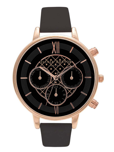 OLIVIA BURTON-Chrono Detail Black Dial & Rose Gold-Watch-OB15CG44-THE UNIT STORE