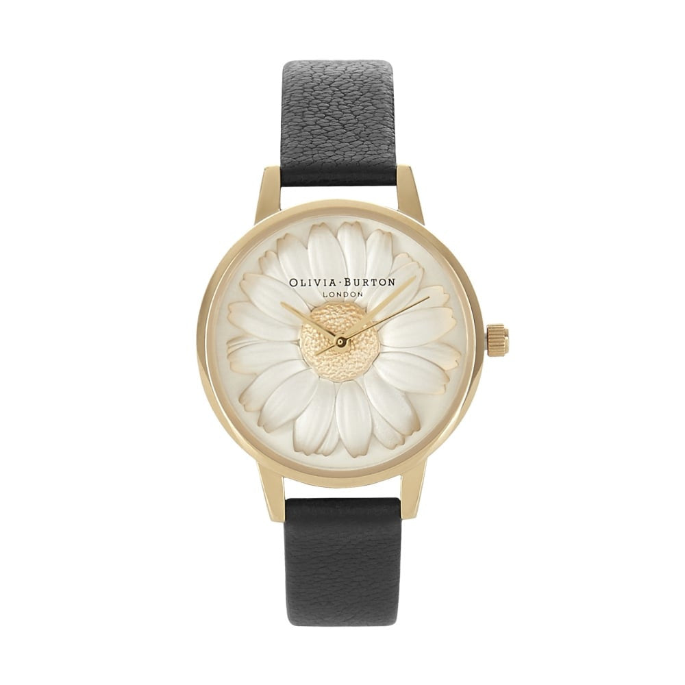 Flower Show 3D Daisy Black & Gold__OLIVIA BURTON_Watch_THE UNIT STORE