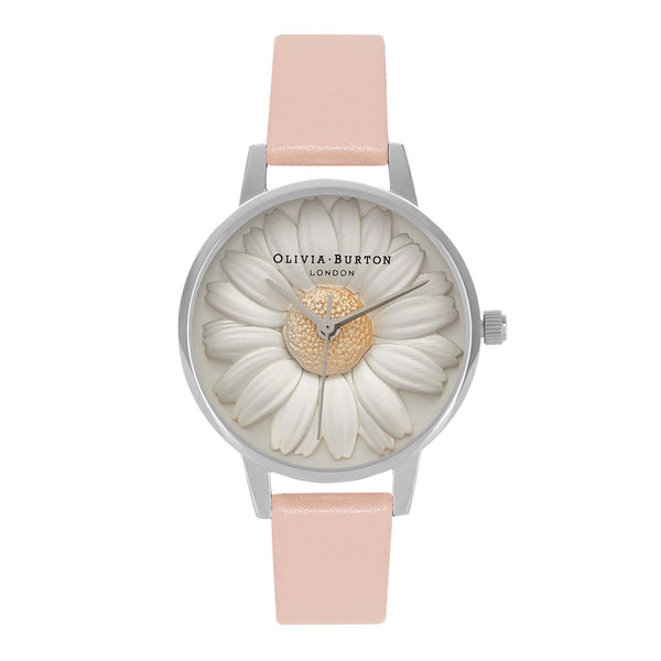 OLIVIA BURTON-Flower Show 3D Dusty Pink & Silver-Watch-OB15EG39-THE UNIT STORE