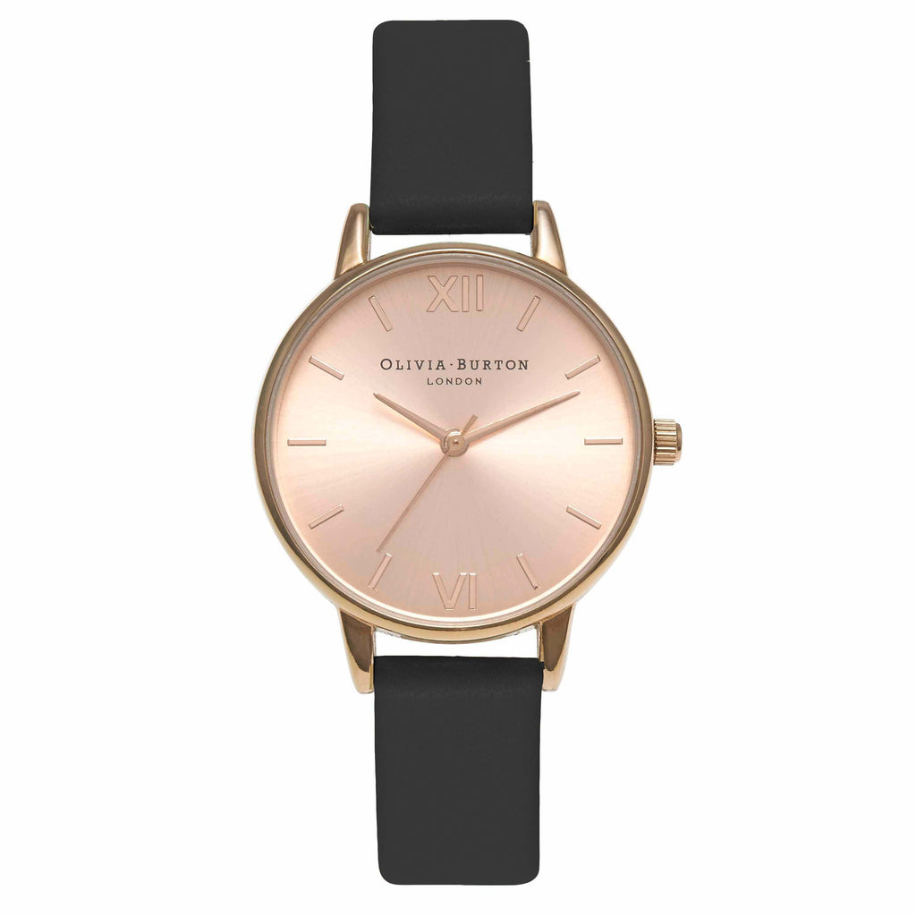 OLIVIA BURTON-Midi Dial Black & Rose Gold-Watch-OB15MD39-THE UNIT STORE