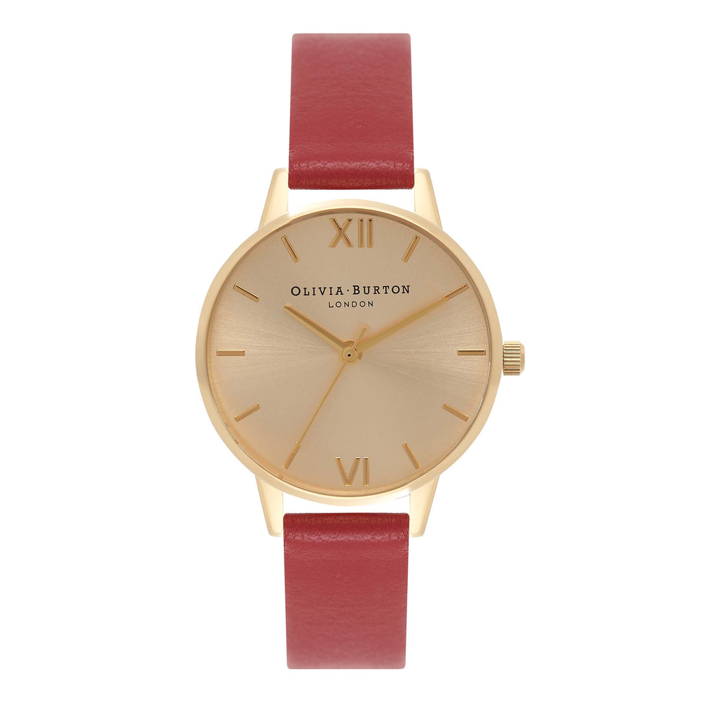 OLIVIA BURTON-Midi Dial Red & Gold-Watch-OB15MD63-THE UNIT STORE
