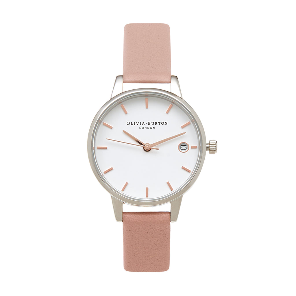 OLIVIA BURTON-The Dandy Dusty Pink Silver & Rose Gold Mix-Watch-OB15TD15-THE UNIT STORE