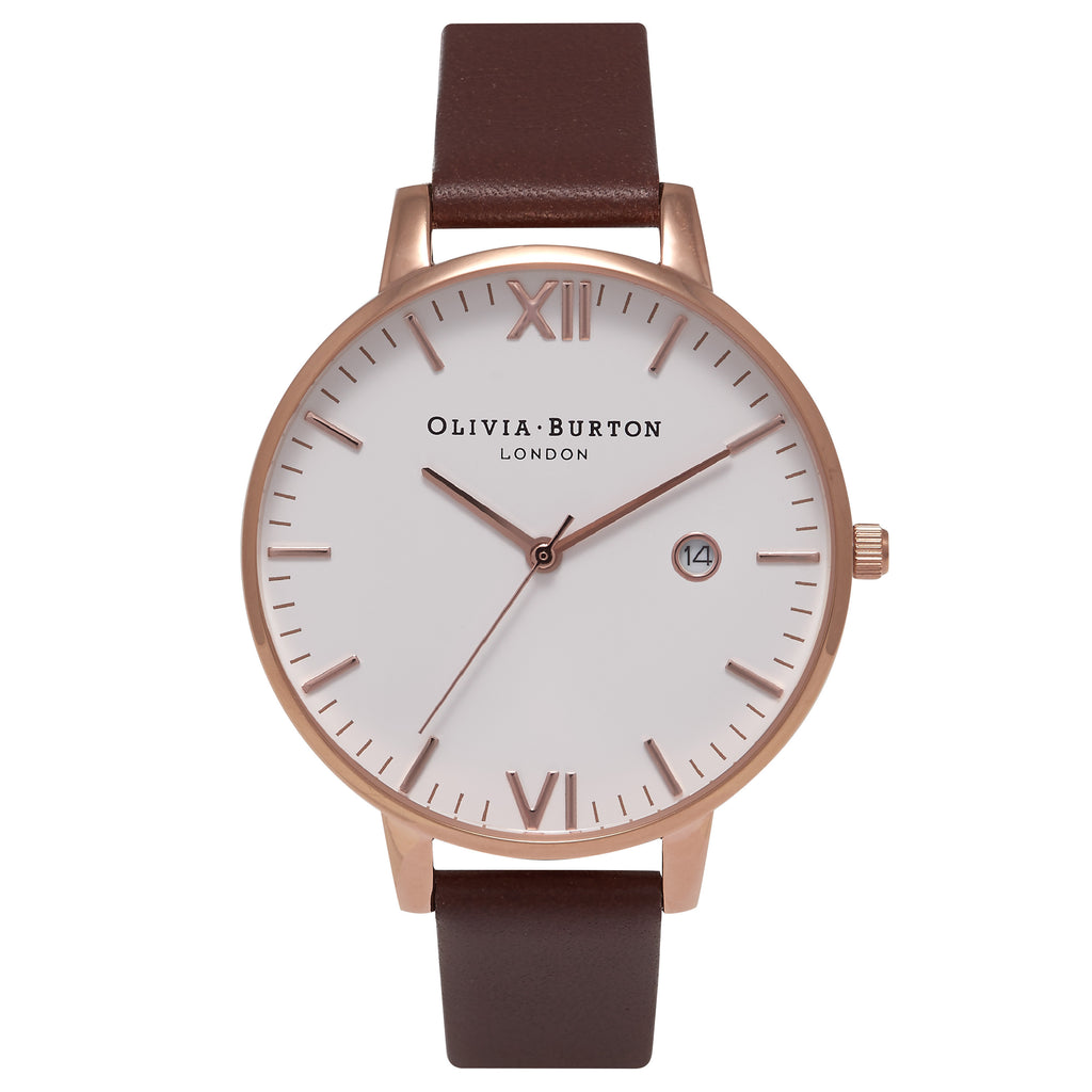 OLIVIA BURTON-Timeless Brown & Rose Gold-Watch-OB15TL01-THE UNIT STORE