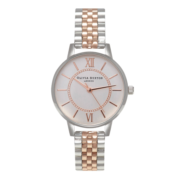 OLIVIA BURTON-Wonderland Bracelet Silver & Rose Gold Mix-Watch-OB15WD40-THE UNIT STORE