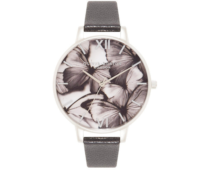 OLIVIA BURTON-Woodland Butterflies Black & Silver-Watch-OB15WL55-THE UNIT STORE