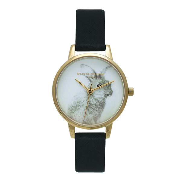 Woodland Bunny Black & Gold__OLIVIA BURTON_Watch_THE UNIT STORE