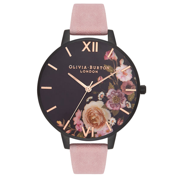 After Dark Rose Suede & Matte Black__OLIVIA BURTON_Watch_THE UNIT STORE