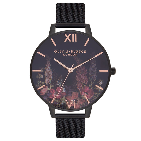 OLIVIA BURTON-After Dark Rose Gold & Black Mesh-Watch-OB16AD29-THE UNIT STORE