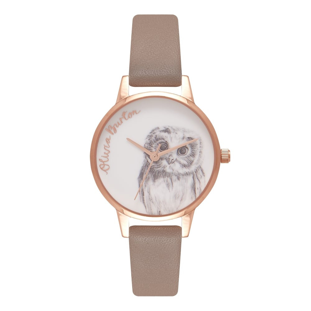 OLIVIA BURTON-Animal Motif Iced Coffee & Rose Gold-Watch-OB16AM110-THE UNIT STORE