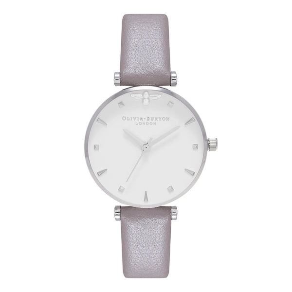 OLIVIA BURTON-Queen Bee London Grey & Silver-Watch-OB16AM144-THE UNIT STORE
