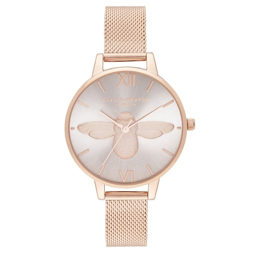 3D Bee Demi Blush Dial & Rose Gold Mesh__OLIVIA BURTON_Watch_THE UNIT STORE