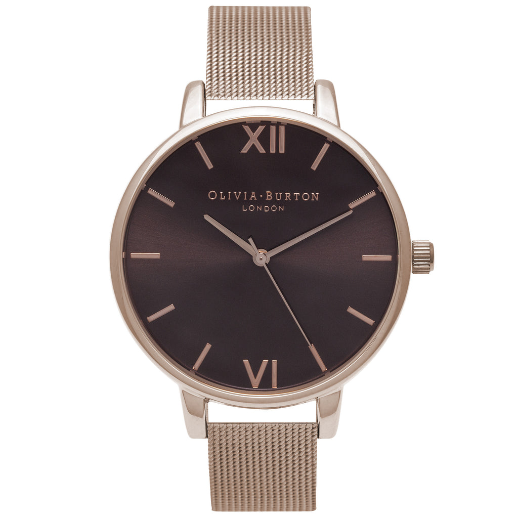 OLIVIA BURTON-Brown Dial Brown Dial Rose Gold Mesh-Watch-OB16BD86-THE UNIT STORE