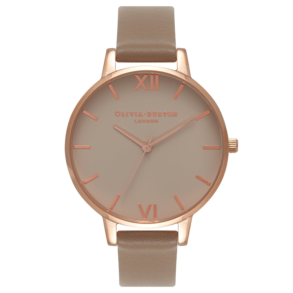 OLIVIA BURTON-Go For Greige Greige Dial, Taupe & Rose Gold-Watch-OB16BD91-THE UNIT STORE