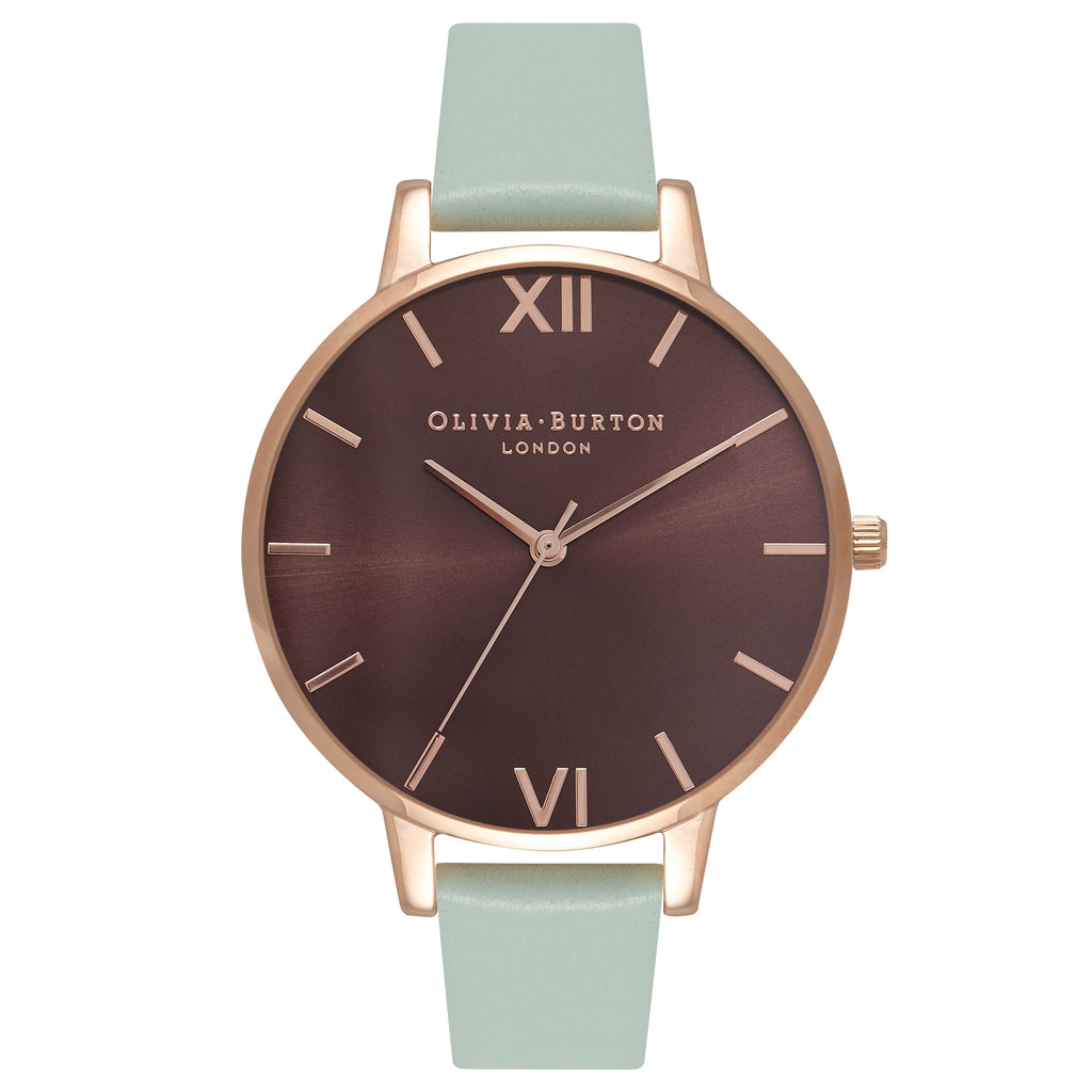 OLIVIA BURTON-Brown Dial Brown Dial, Mint & Rose Gold-Watch-OB16BD93-THE UNIT STORE