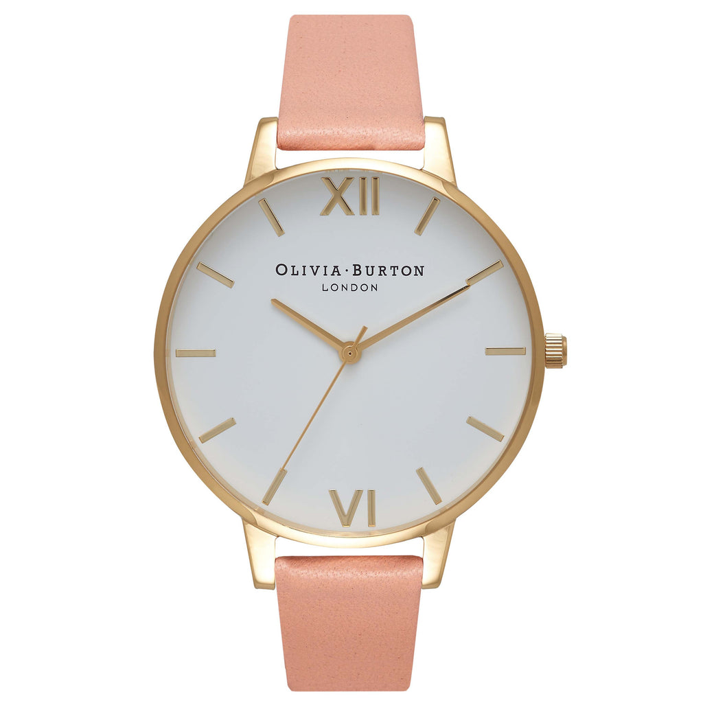 OLIVIA BURTON-White Dial Big Dial Dusty Pink & Gold-Watch-OB16BDW13-THE UNIT STORE