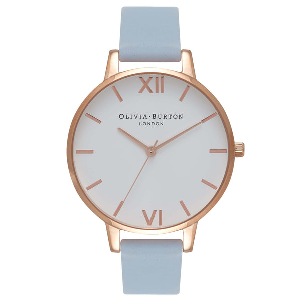OLIVIA BURTON-White Dial Big Dial Chalk Blue & Rose Gold-Watch-OB16BDW18-THE UNIT STORE