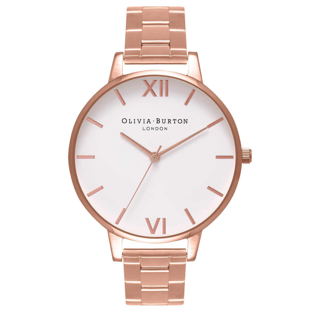 OLIVIA BURTON-White Dial Bracelet Rose Gold-Watch-OB16BL33-THE UNIT STORE