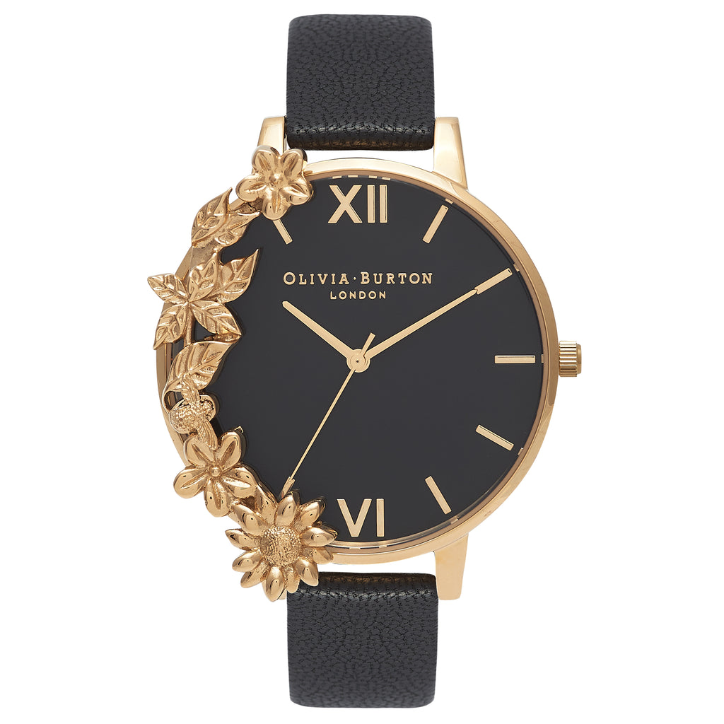 OLIVIA BURTON-Case Cuffs Black Dial & Gold-Watch-OB16CB07-THE UNIT STORE