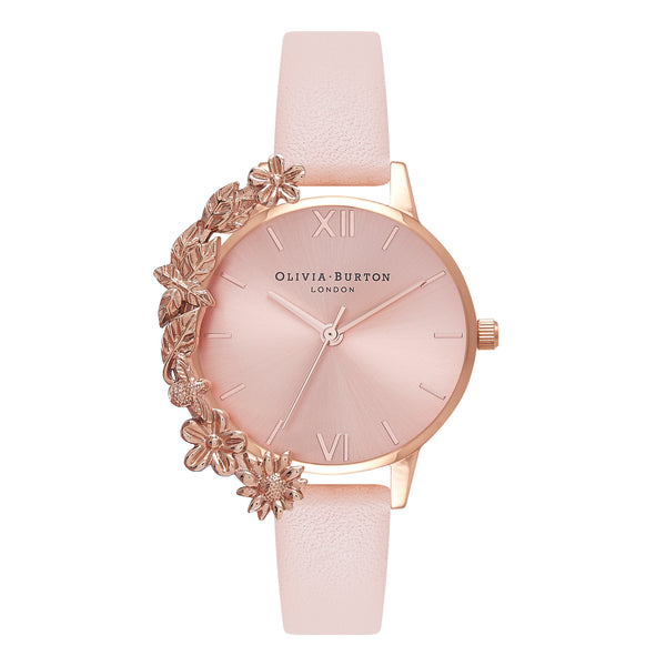 OLIVIA BURTON-Case Cuffs Nude Peach & Rose Gold-Watch-OB16CB11-THE UNIT STORE