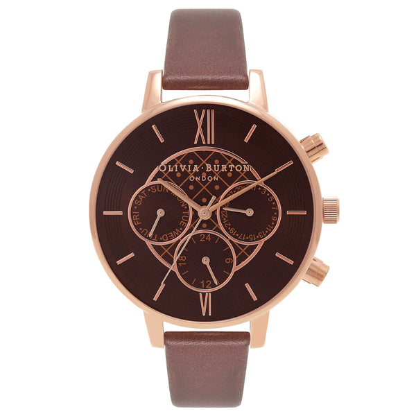 OLIVIA BURTON-Chrono Detail Brown & Rose Gold-Watch-OB16CG84-THE UNIT STORE