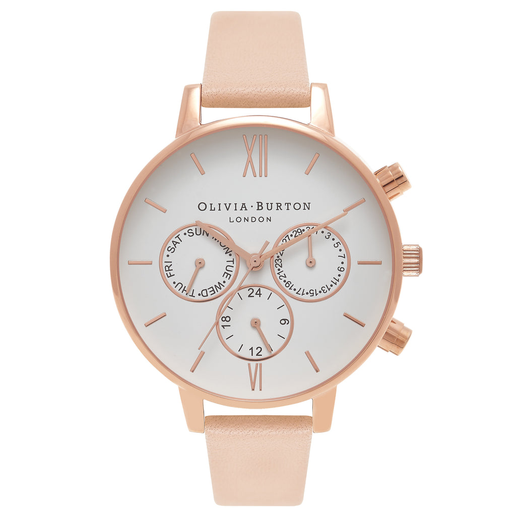 OLIVIA BURTON-Chrono Detail Nude Peach & Rose Gold-Watch-OB16CG88-THE UNIT STORE