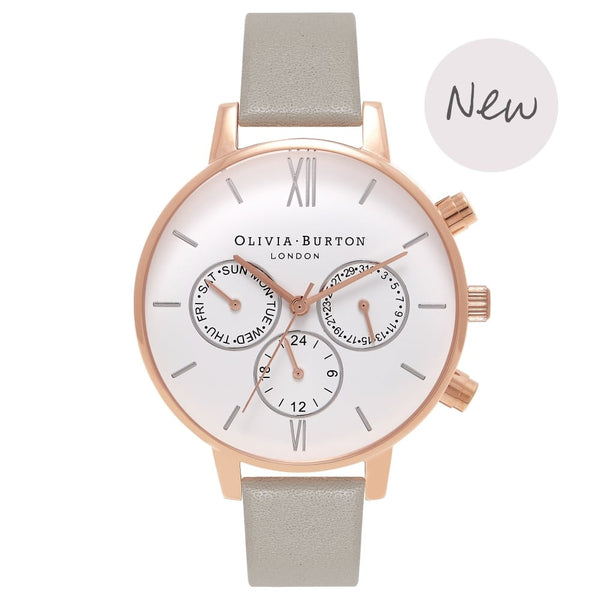 OLIVIA BURTON-Chrono Detail Grey, Rg & Silver-Watch-OB16CG91-THE UNIT STORE