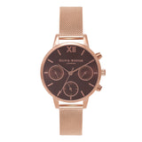 OLIVIA BURTON-Midi Dial Chrono Brown Dial & Rose Gold Mesh-Watch-OB16CGM65-THE UNIT STORE