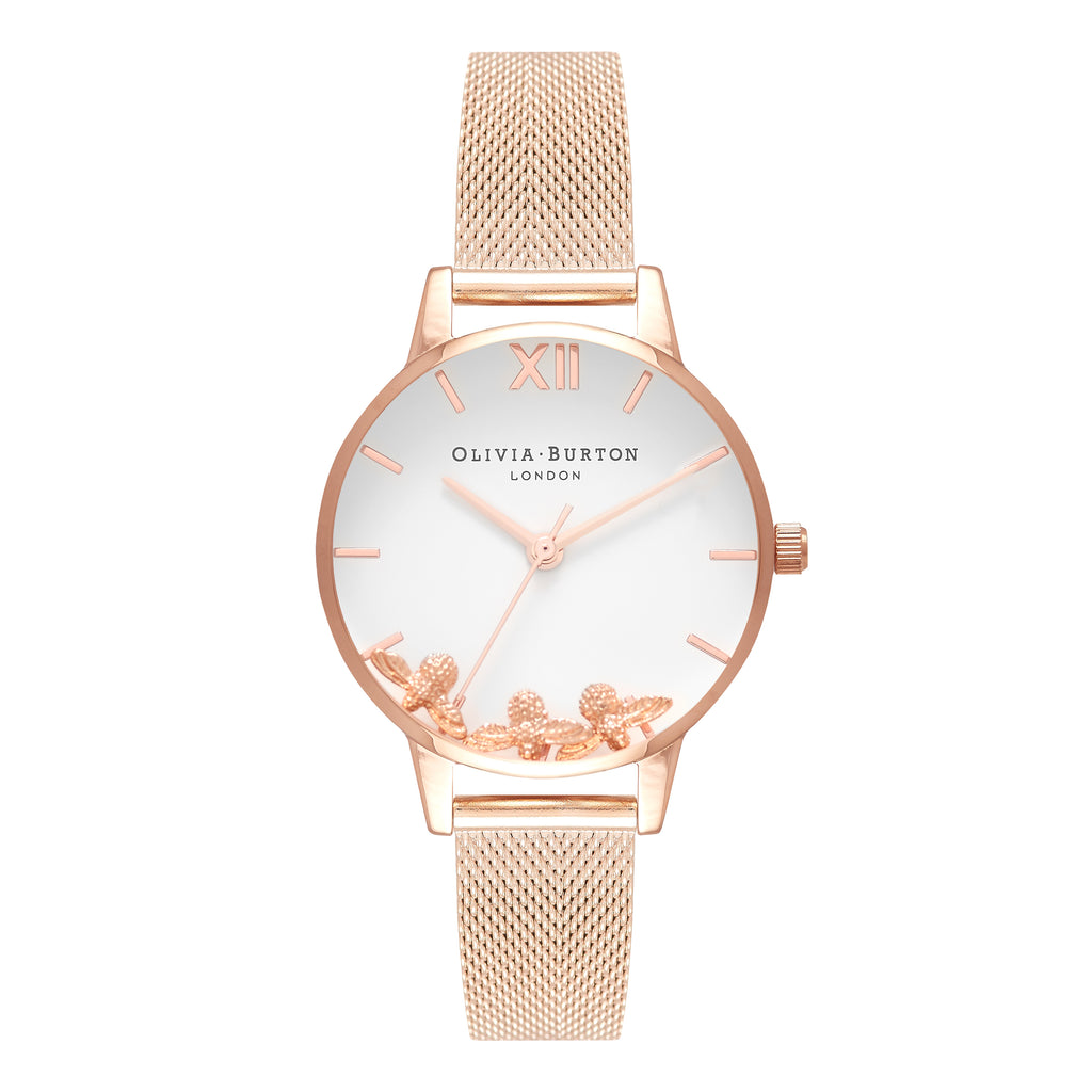 OLIVIA BURTON-Busy Bees Rose Gold Mesh-Watch-OB16CH01-THE UNIT STORE