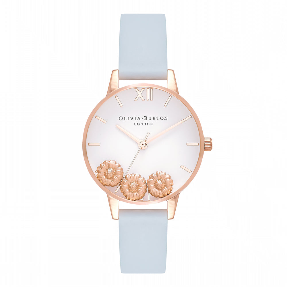 OLIVIA BURTON-Dancing Daisy Chalk Blue & Rose Gold-Watch-OB16CH04-THE UNIT STORE