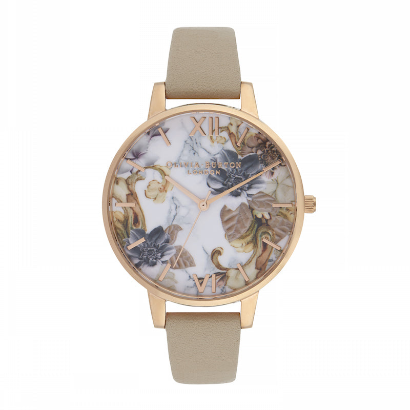 OLIVIA BURTON-Marble Florals Sand & Rose Gold-Watch-OB16CS17-THE UNIT STORE