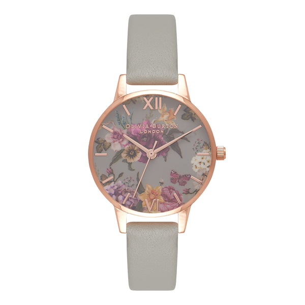 OLIVIA BURTON-Dark Bouquet Grey & Rose Gold-Watch-OB16EG80-THE UNIT STORE
