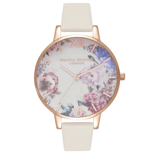 OLIVIA BURTON-Enchanted Garden Nude & Rose Gold-Watch-OB16EG89-THE UNIT STORE