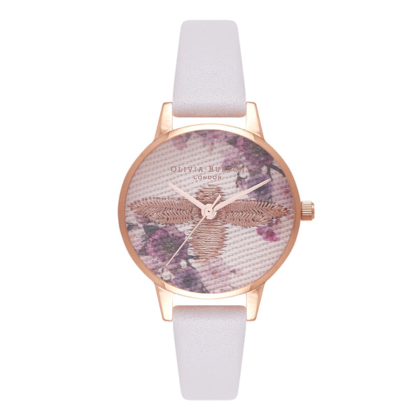 Embroidered Dial Blush & Rose Gold