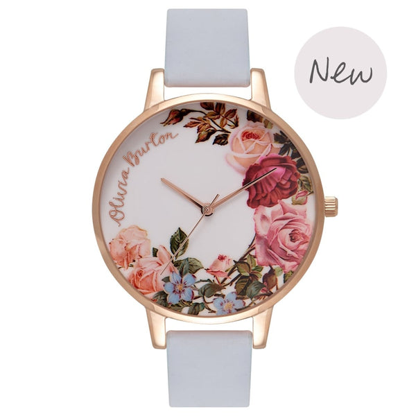 OLIVIA BURTON-Flower Show Chalk Blue & Rose Gold-Watch-OB16ER06-THE UNIT STORE