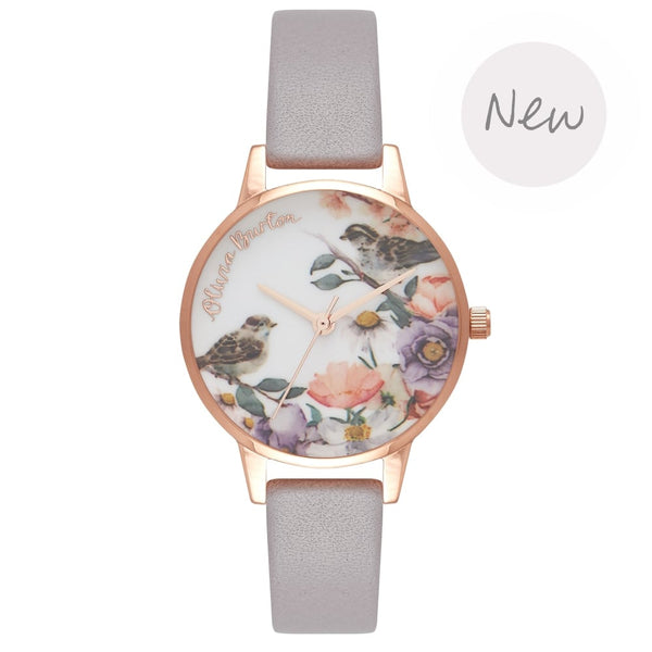 OLIVIA BURTON-Flower Show Grey Lilac & Rose Gold-Watch-OB16ER13-THE UNIT STORE