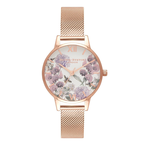 Enchanted Garden Rose Gold Mesh