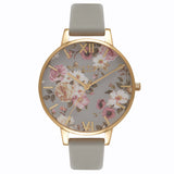 OLIVIA BURTON-Flower Show Grey & Gold-Watch-OB16FS81-THE UNIT STORE