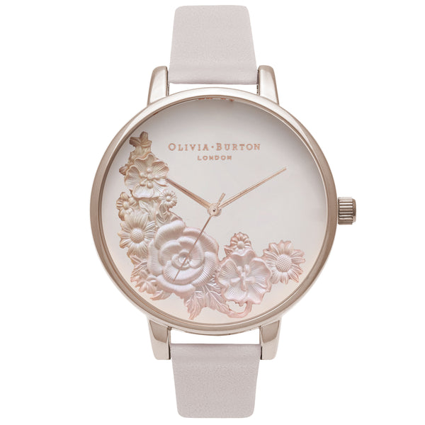 OLIVIA BURTON-Begin To Blush Moulded Bouquet Blush & RG-Watch-OB16FS85-THE UNIT STORE