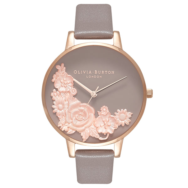 OLIVIA BURTON-Floral Bouquet London Grey & Rose Gold-Watch-OB16FS99-THE UNIT STORE