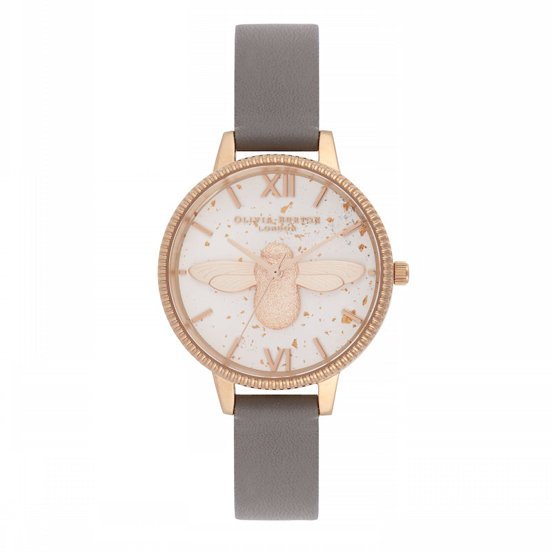 OLIVIA BURTON-Celestial 3D Bee London Grey & Rose Gold-Watch-OB16GD06-THE UNIT STORE