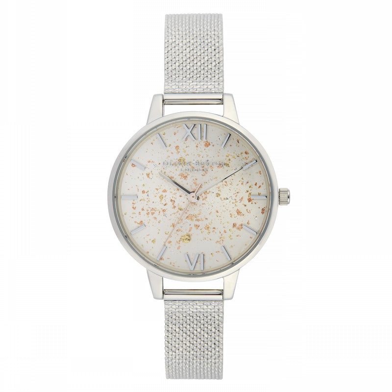 OLIVIA BURTON-Celestial Silver Glitter, Silver Boucle Mesh-Watch-OB16GD14-THE UNIT STORE