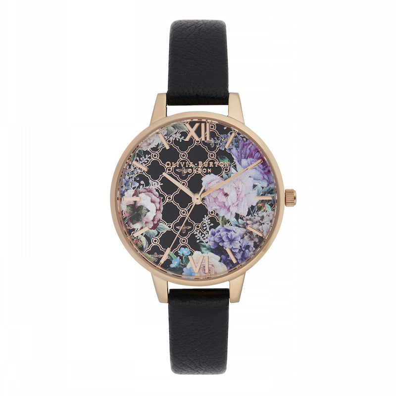OLIVIA BURTON-Glasshouse Black & Rose Gold-Watch-OB16GH11-THE UNIT STORE