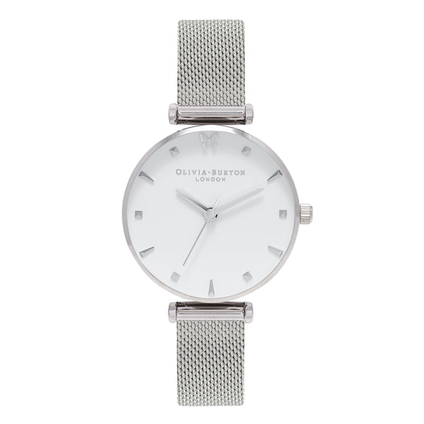 OLIVIA BURTON-Social Butterfly Silver Mesh-Watch-OB16MB12-THE UNIT STORE