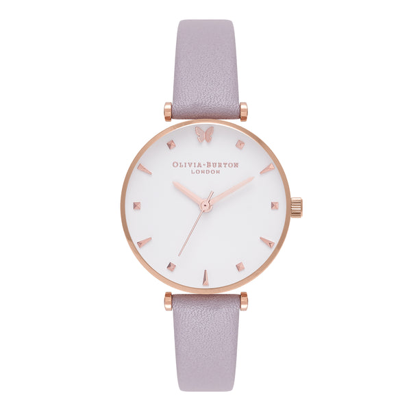 Social Butterfly Grey Lilac & Rose Gold