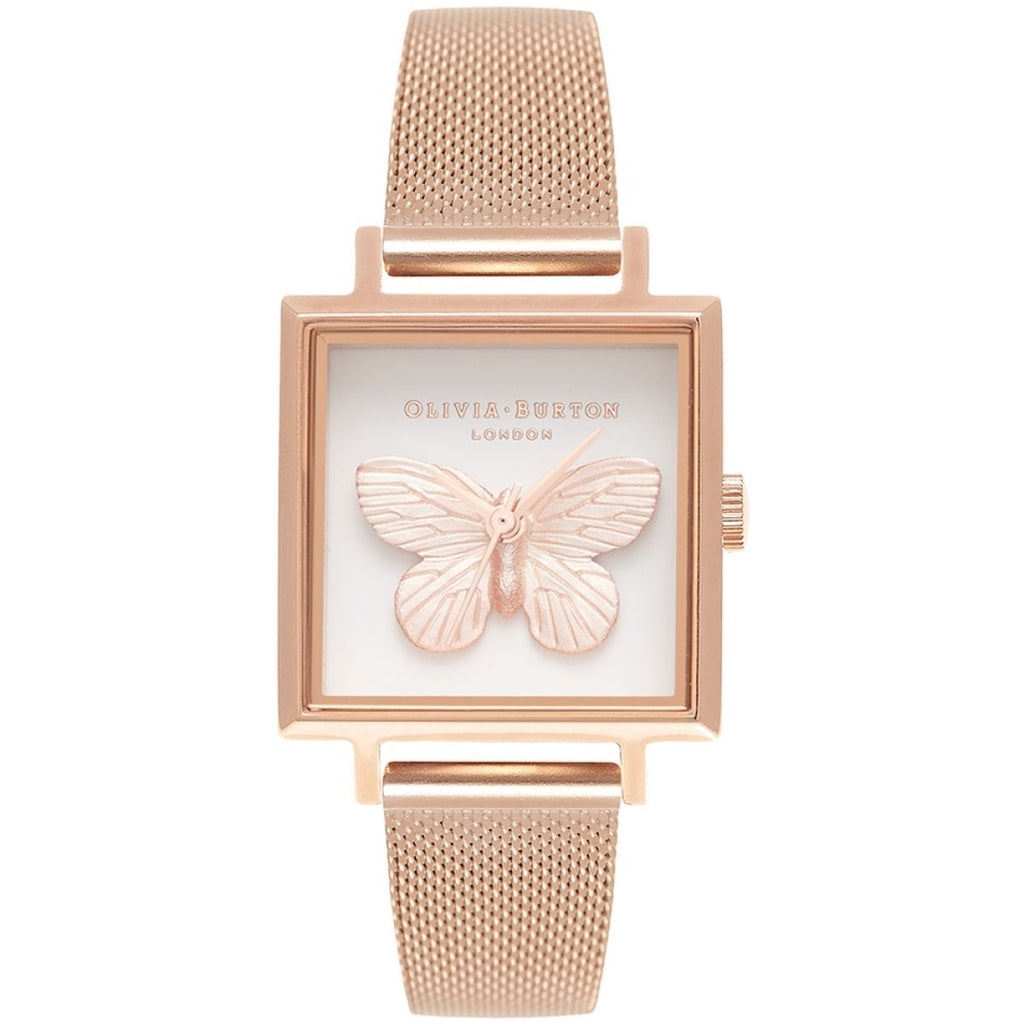 OLIVIA BURTON-3D Butterfly RG Mesh-Watch-OB16MB18-THE UNIT STORE