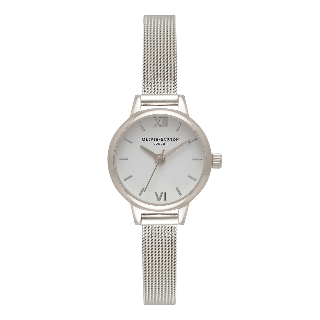 OLIVIA BURTON-Mini Dial Silver Mesh-Watch-OB16MC47-THE UNIT STORE
